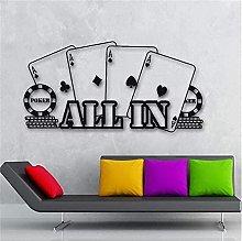 Adesivo Murale Decorazione Decalcomania Poker