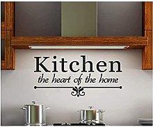 Adesivo murale design cucina cuore lingua cucina