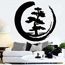 Adesivo murale design in stile meditazione grande