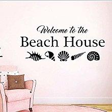 Adesivo murale di benvenuto decorazione vacanza in