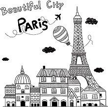 Adesivo murale di Parigi Bianco e nero Astratto