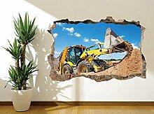 Adesivo murale Digger Immagine murale Camera da