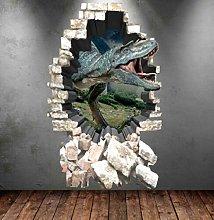 Adesivo murale dinosauro adesivo a colori 3d