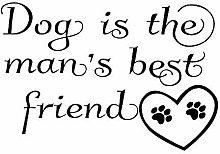 Adesivo murale Dog Is The Man S Best Friend