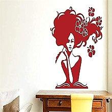 Adesivo murale donna vinile libro fiore adesivo da