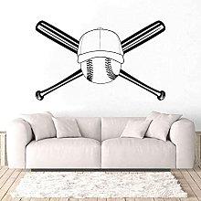 Adesivo murale Doppio berretto da baseball Adesivo