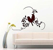 Adesivo Murale Doppio Uccello Salotto Autoadesivo