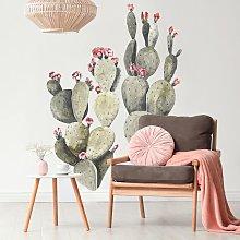 Adesivo murale - Due cactus con fiori in