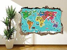 Adesivo murale educativo da colorare per bambini
