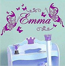 Adesivo Murale Emma Girl Room Decoration Nome
