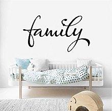 Adesivo Murale Famiglia Parole Detti Rimovibile