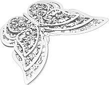 Adesivo murale farfalla 3D, argento, 12 pezzi