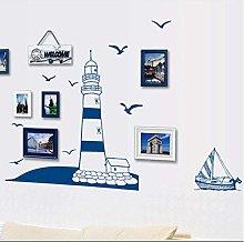 Adesivo Murale Faro Mediterraneo Per Soggiorno
