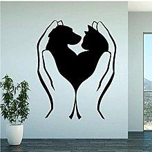 Adesivo Murale Fashion Love My Animals Per Cani E