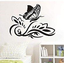 Adesivo Murale Fiore Farfalla Decorazione