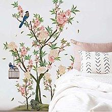Adesivo Murale Fiori E Uccelli Decorazione