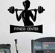 Adesivo murale fitness femminile stile di vita