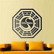 adesivo murale frasi Dharma Initiative per