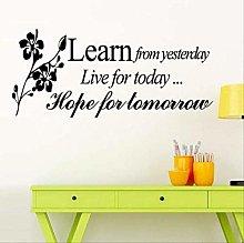 Adesivo murale Frasi motivazionali Apprendimento