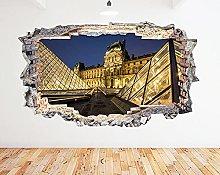 Adesivo murale Galleria del Louvre Piramide Parigi