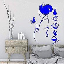 Adesivo murale Geisha Salone di bellezza Ragazza