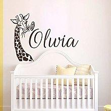 Adesivo murale giraffa Nursery Baby Room Kids