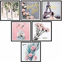 Adesivo murale Girly Heart Pink Rose Paris Torre