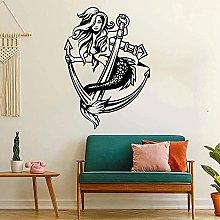 Adesivo murale grande sirena Adesivo murale sirena