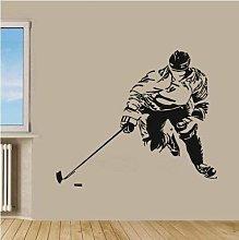 Adesivo Murale Hockey 56X75 Cm