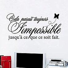 Adesivo murale in vinile francese Carta da parati