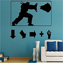 Adesivo Murale In Vinile Poster Street Fighter Per