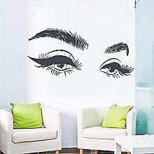 Adesivo murale in vinile rimovibile belle ciglia