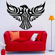Adesivo murale in vinile rimovibile falco preda