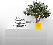Adesivo murale in vinile rimovibile gatto
