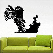 Adesivo murale in vinile rimovibile motocross