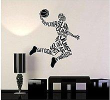 Adesivo murale in vinile rimovibile sport basket