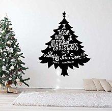 Adesivo Murale Interno Albero Di Natale 42X53Cm