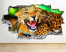Adesivo murale Jaguar Wild Animal Nature Smash
