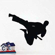 Adesivo Murale Kung Fu Cinese Flying Kick Adesivo