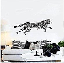 Adesivo murale leopardo Decalcomania animale