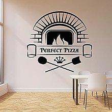 Adesivo murale lettering perfetto pizzeria forno