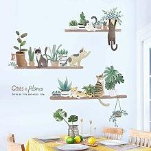 Adesivo murale LITZEE, adesivo murale con piante