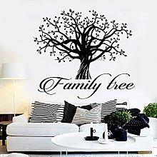 Adesivo murale logo casa parola citazione albero