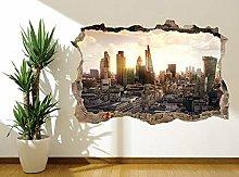 Adesivo murale Londra City Skyline Arlecchino e