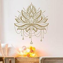 Adesivo murale - Lotus With Chains Colore: Grigio;