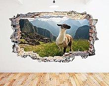 Adesivo murale Machu Picchu Goat Mountain Smash