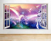 Adesivo murale Magic Fantasy Girl Window Decal 3D