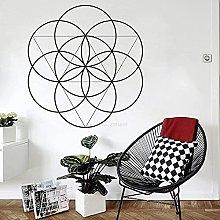 Adesivo murale mandala etichetta geometrica linea