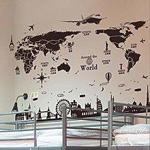 Adesivo murale Mappa del mondo Mappa della parete