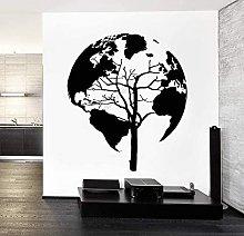 Adesivo murale Mappa del mondo Parete del vinile